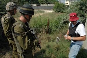 Werknemer Mekorot werkzaam op de West Bank